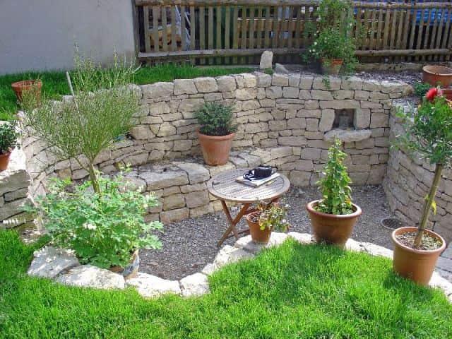 Natursteinmauer Kalksteinmauer