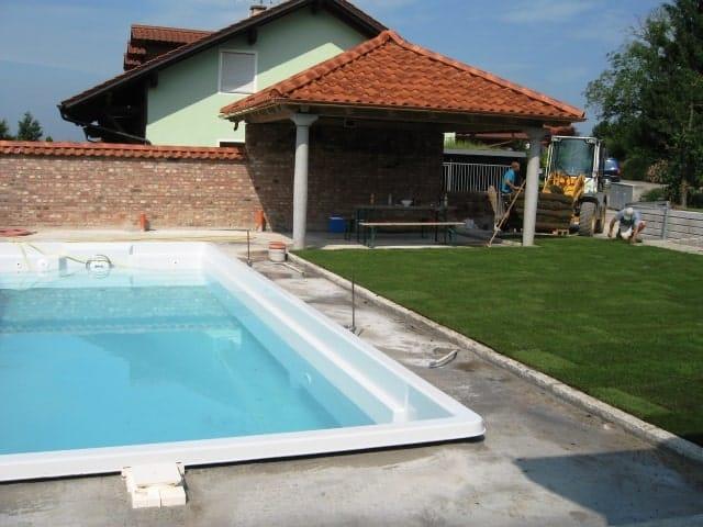 Pool Garten bei Landshut nachher