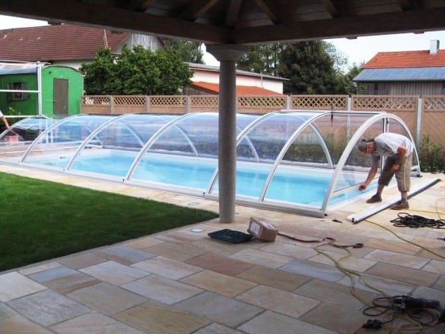 Pool Garten mit Abdeckung