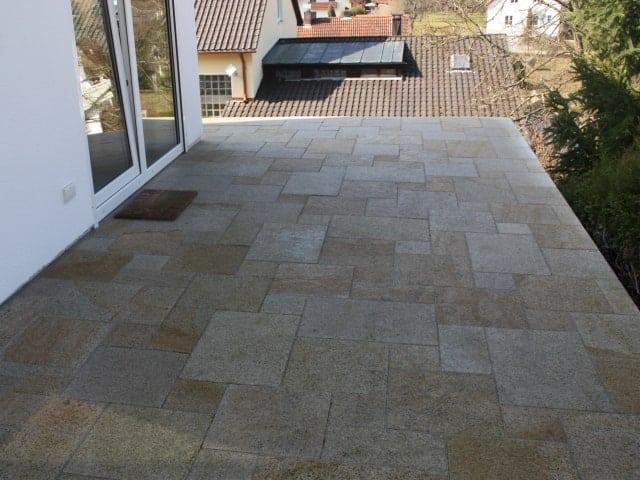 Terrassengestaltung Granit gelb