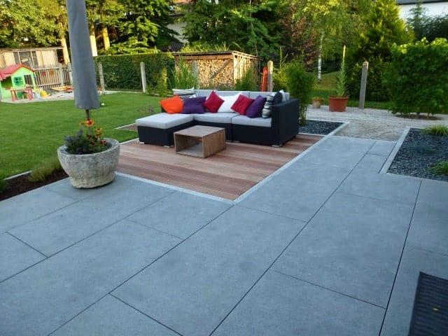 Terrassengestaltung Platten