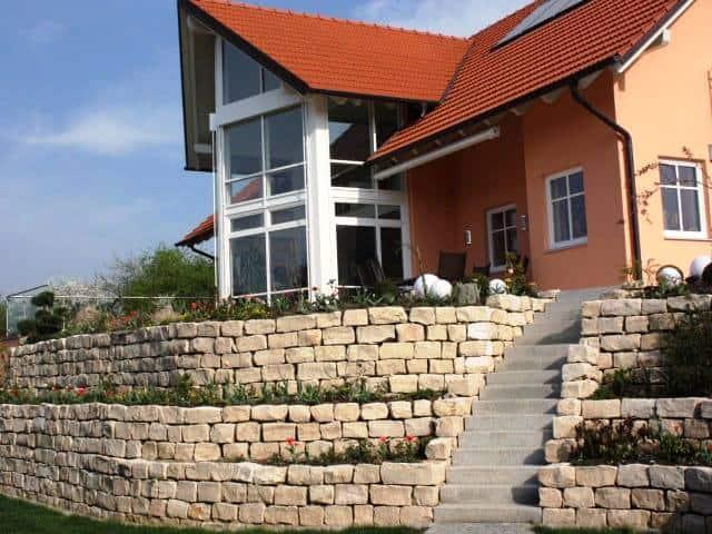 Gartengestaltung Ludwig Abfalter Natursteinmauer